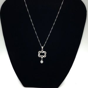 Women's sterling silver double hearts pendant